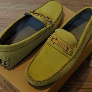 Mens Tod's Penny Bar Gommini Suede Drivers/Loafers
